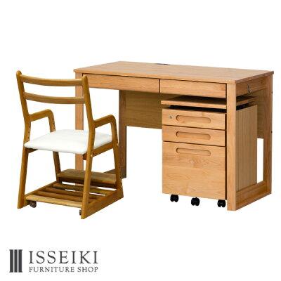 ISSEIKI (セット) エルデスク + ワゴン + ライフ (ホワイト) 3点セット