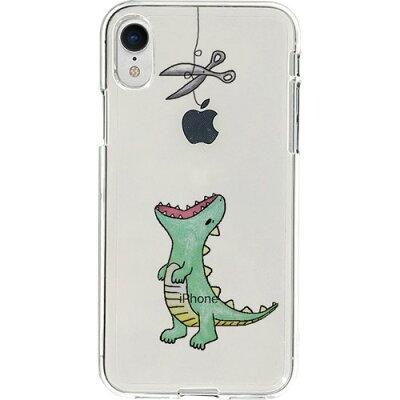 ディーパークス iPhone XR ソフトクリア はらぺこザウルス グリーン DS14810i61(1コ入)
