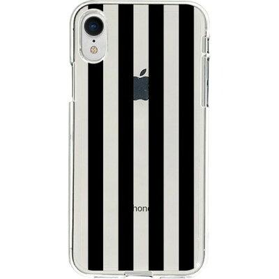 ディーパークス iPhone XR ソフトクリア ストライプ DS14831i61(1コ入)