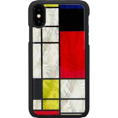 アイキンス iPhone XS Max 天然貝ケース モンドリアン I15841i65(1コ入)