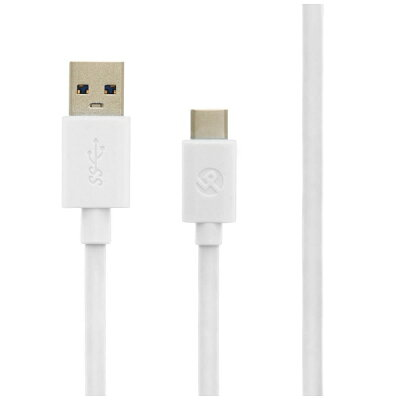 LEPLUS スマートフォン(汎用) USB A to Type-C(USB 3.1 Gen1) ケーブル LP-ATCC03WH