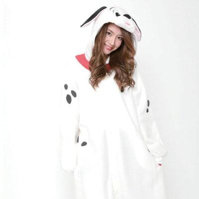 顔出し着ぐるみパジャマ ラッキー101匹わんちゃん干支戌犬
