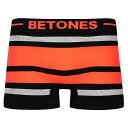 ビトーンズ BETONES ボクサーパンツ ボーダー BREATH BB001-03 サーモンピンク