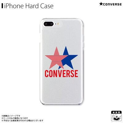 アイフォンケース iPhoneケース CONVERSE コンバース iPhone8Plus iPhone7Plus iPhone6sPlus iPhone6Plus クリアケース 2STAR GRAPHICS RED