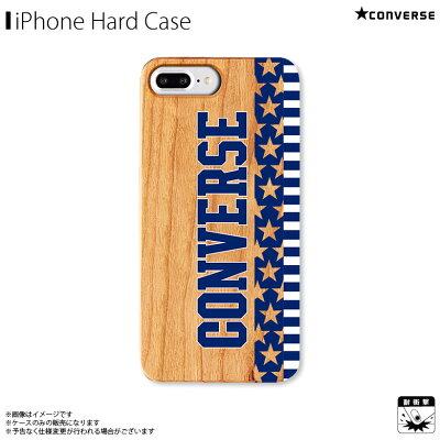 アイフォンケース iPhoneケース CONVERSE コンバース iPhone8Plus iPhone7Plus iPhone6sPlus iPhone6Plus ウッドケース Star and Stripes NAVY