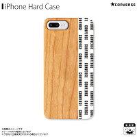 アイフォンケース iPhoneケース CONVERSE コンバース iPhone8Plus iPhone7Plus iPhone6sPlus iPhone6Plus ウッドケース Pattern White