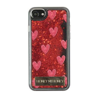 ギズモビーズ iPhoneケース iPhone8 / 7 / 6s / 6 HONEY MI HONEY glitter heart iPhonecase RED