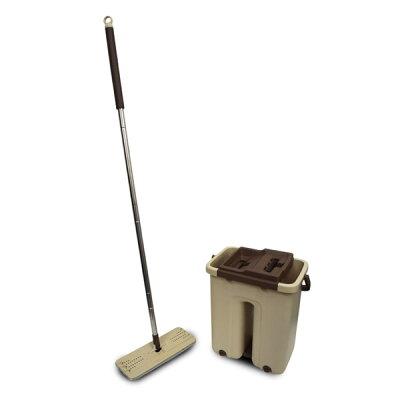 モップ 水拭き 洗浄 脱水 スクイーズモップ モップ絞り器 ポータブル 持ち運び skm60