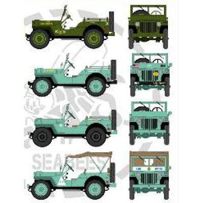 1/72 WW.II 米軍 1/4トン小型車両 米海軍建設工兵隊 Hモデルデカール