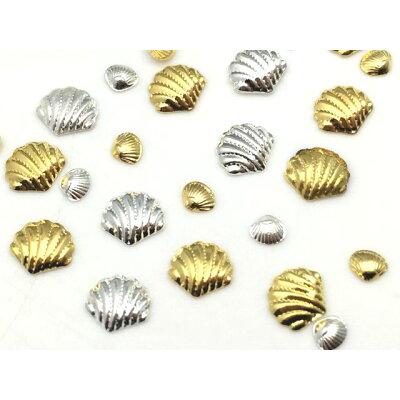 メタルパーツ 貝 ゴールド シルバー 1g 大小サイズ