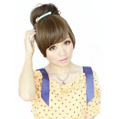 Brightlele 前髪ウィッグ 分け目自由 aq008