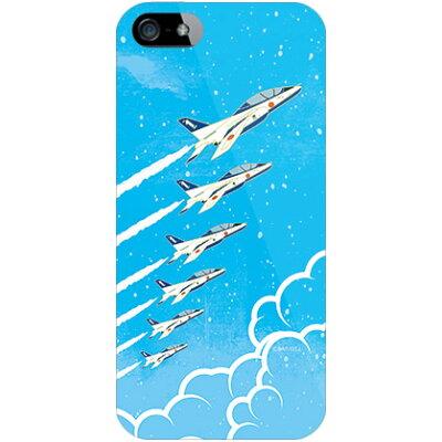 (スマホケース)SAPエアプレインシリーズ T-4ブルーインパルス 空 (クリア)/ for iPhone SE/5s/au (Coverfull)
