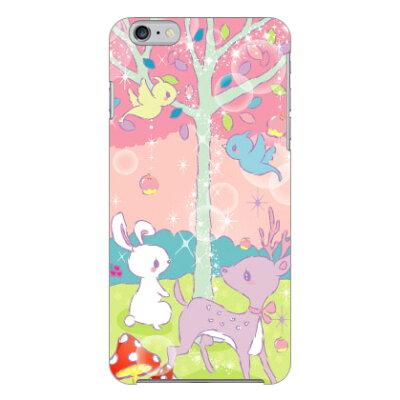 スマホケース milk's design しらくらゆりこ  メルヘンな森  / for iphone 6 plus/apple  coverfull