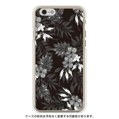 スマートフォンケース  リゾートフラワー ブラック   クリア       iPhone 6/Apple