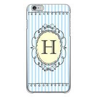 iPhone 6 Plus/Apple専用 Coverfull スマートフォンケース Cf LTD イニシャル アルファベット H サックス クリア 3AP6PS-PCCL-152-M301