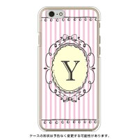 スマートフォンケース  Cf LTD イニシャル アルファベット Y ピンク  クリア iPhone 6/Apple