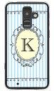 (スマホケース)Cf LTD イニシャル アルファベット K サックス (クリア)/ for ビジネススマートフォン F-04F/docomo (Coverfull)