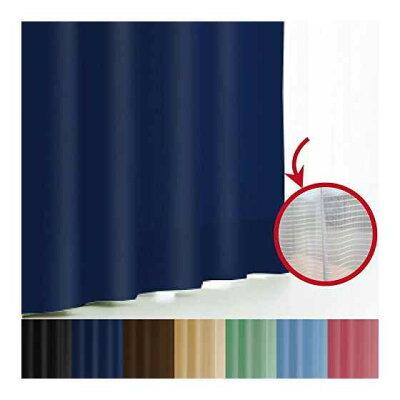 エール丈  幅100- 丈 遮光性カーテン&ミラーレースカーテン