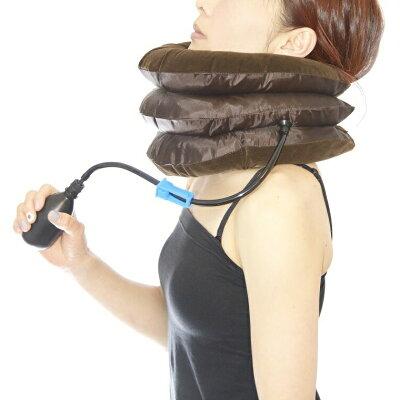 肩こりの人必見 ネックストレッチャー 首の伸ばし 空気圧で首のマッサージ