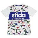 SFIDA スフィーダ JRショウカプリントプラクティスシャツ01 SA18S03JR 色 : WHITE サイズ : 150