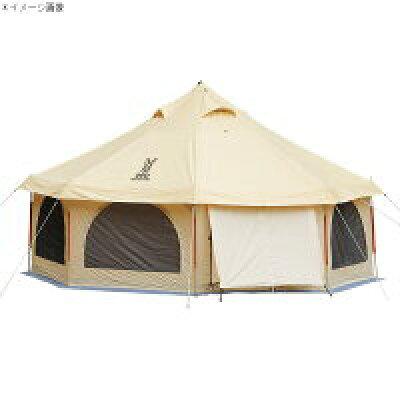 テント ドッペルギャンガーアウトドア タケノコテント T8-495 ベージュ/オレンジ