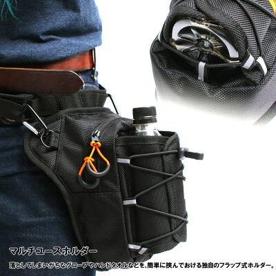 DOPPELGANGER ドッペルギャンガー DBT441-BK ライダーズ ホルスターバッグ ブラック品/バイク用バッグ,ウエストバッグ
