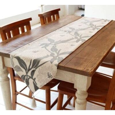 かわ畑 テーブルランナー   グレイホワイト 1206wuj004
