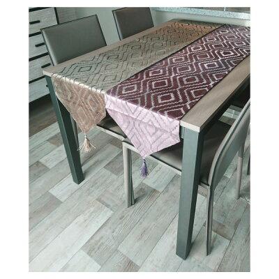 テーブルランナー   ライトブラウン&パープル 1704sha009