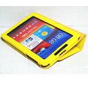 Galaxy Tab 7.7 Plus ケース/小型品 SC-01E/スタンドB型/合皮/イエロー/