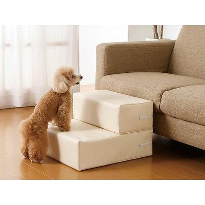 ドッグステップ/ペット用品  アイボリー レギュラー  抗菌 難燃PVCレザー 高弾力ウレタン使用  犬 猫
