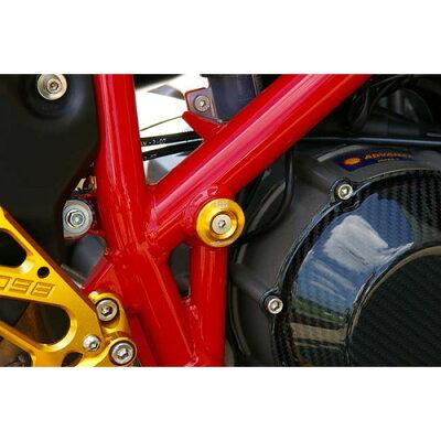 BABYFACE ベビーフェイス 汎用外装部品・ドレスアップパーツ フレームキャップ カラー:ゴールド MONSTER S4R モンスター HYPERMOTARD ハイパーモタード MONSTER S2R モンスター