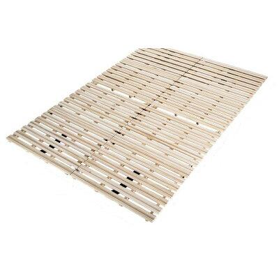 すのこベッド 折りたたみ 折りたたみベッド 2つ折り セミダブル