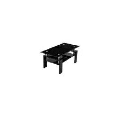 センターテーブル ローテーブル ガラス リビングテーブル ガラステーブル センター 100 ブラック