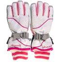 エァウォーク AW スキー5指手袋 AWー7122 ホワイト サイズ=JL  ホワイトサイズ=JL AW7122 WHJL