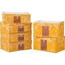 LOCK&LOCK LOCK&LOCK リビングボックス6点セット オレンジ SUN515YS6
