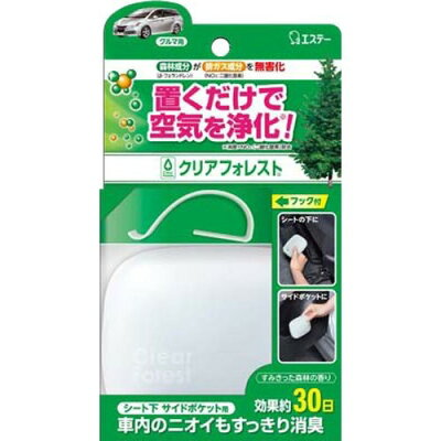 クリアフォレスト 消臭芳香剤 車用 シート下 サイドポケット用 本体(32g)