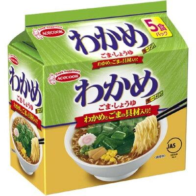 エースコック わかめラーメン ごま・しょうゆ(5食*6袋入)