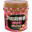 アース渦巻香 蚊取り線香 バラの香り 長時間タイプ ジャンボ缶入(50巻)