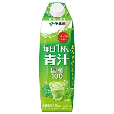 伊藤園 毎日1杯の青汁 紙パック 屋根型キャップ付容器(1L*6本入)