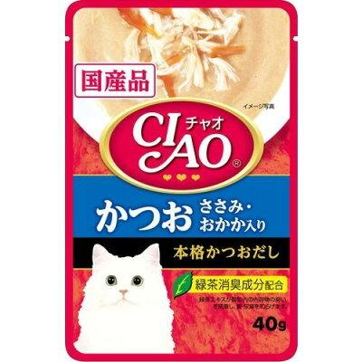 いなば チャオ パウチ かつお ささみ・おかか入り(40g)