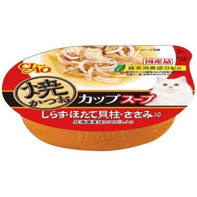 いなば チャオ 焼かつお カップスープ しらすほたて貝柱ささみ入り(60g)