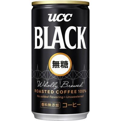 UCC ブラック 無糖 缶 185X30