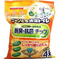 花王 ニャンとも清潔トイレ脱臭・抗菌チップ大きめの粒 4L