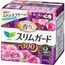 ロリエ スリムガード スイートローズの香り 多い夜用300 羽つき 14コ入