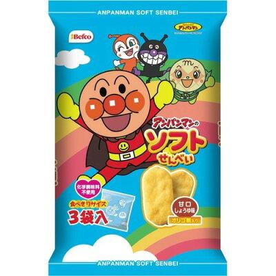 アンパンマンのソフトせん 甘口しょうゆ味(3袋入)