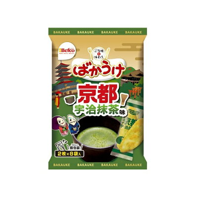 栗山米菓 ご当地ばかうけ 抹茶味 16枚