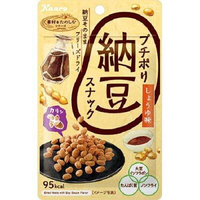 カンロ プチポリ納豆スナック 醤油味 20g
