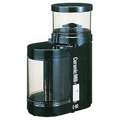 カリタ 電動コーヒーミル セラミックミル C-90 ブラック(1台)