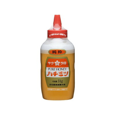 加藤美蜂園本舗 サクラ印純粋ハチミツポリ1000g