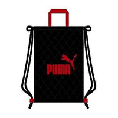 プーマ ナップサック ブラック PM126BK クツワ /プーマ/文具/文房具/新入学/キルティングバッグ